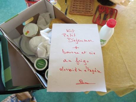 On a manqué de rien, Brigitte nous avait préparé un p'tit dèj !