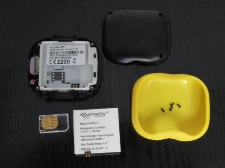 Simvalley GT-170 - Mise en place de la SIM et batterie