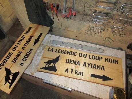 Les panneaux pour indiquer l'élevage