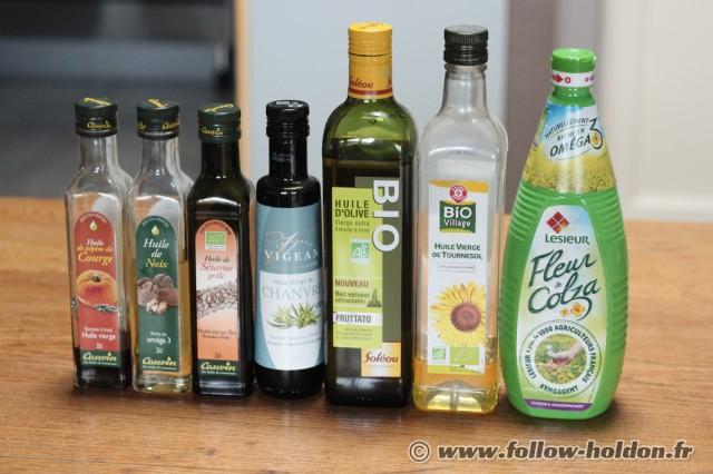 Les huiles végétales très utilisées dans le BARF