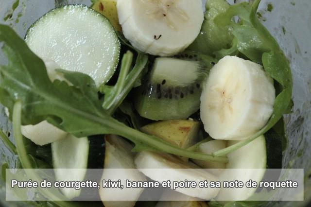 BARF  - courgette, kiwi, banane poire et roquette